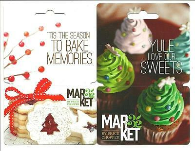 Lot /2 Different Market 32 Gift Cards No$Value Collectible Price Chopper Holiday