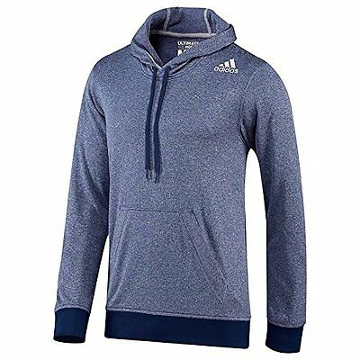 Adidas Men's Ultimate Base Hoodie Night Blue/Light Grey