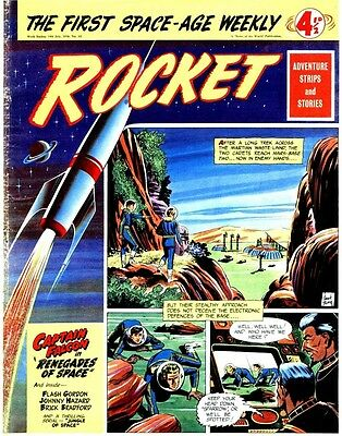 UK COMICS ROCKET #1,2,4-32 COLLECTION OF 1950s BOYS SCI-FICOMICS ON DVD