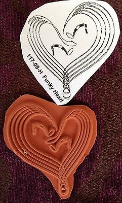 Funky Heart... - Unmounted Rubber Stamp