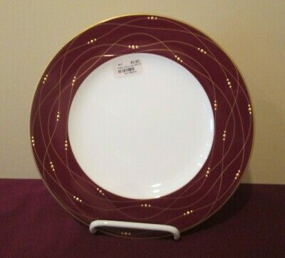"Royal Doulton Precious Gold Accent Plate - Red - 9"" New 1102B"