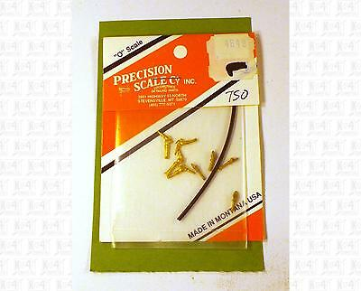 Precision Scale O Brass Parts: Air Brake Glad Hands With Flexible Hoses 4649
