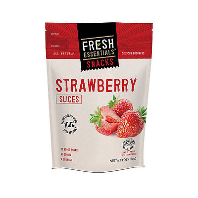 FRESH ESSENTIALS - Strawberry Slices Pouch - 6 Pack
