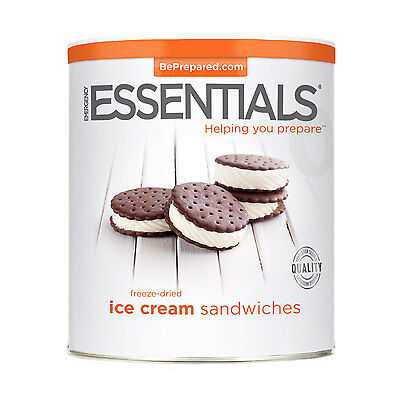 EMERGENCY ESSENTIALS - Freeze Dried Ice Cream Sandwiches can