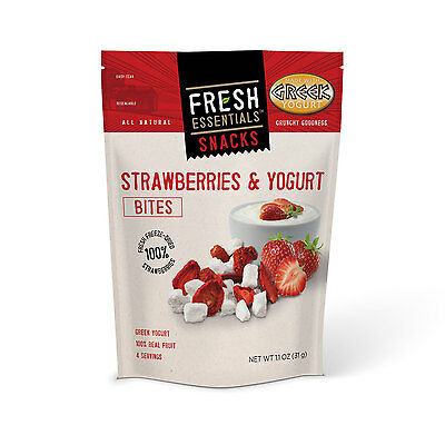 FRESH ESSENTIALS - Strawberries and Yogurt Pouch - 6 Pack
