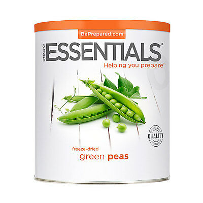 EMERGENCY ESSENTIALS - Freeze Dried Peas, Green can