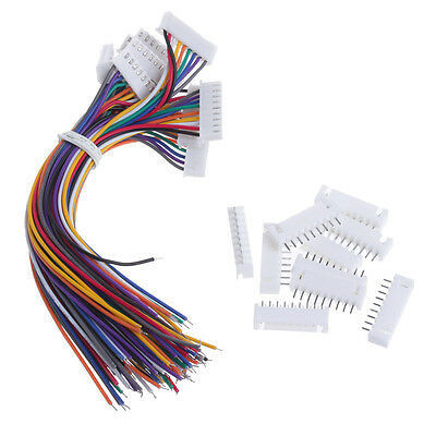 10Pcs 8S1P Lipo Battery Balance Charger Connector Adapter Plug Cable Wire 150MM
