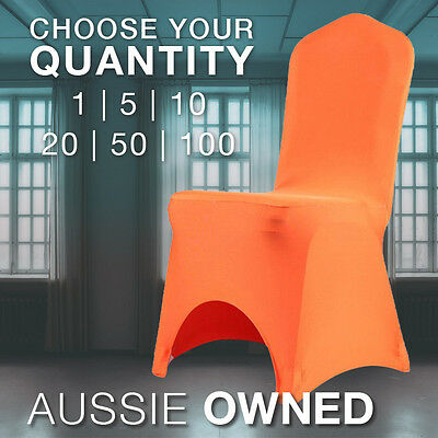 UNIVERSAL ORANGE CHAIR COVER - High Quality Spandex 200gsm | Pick Your Quantity