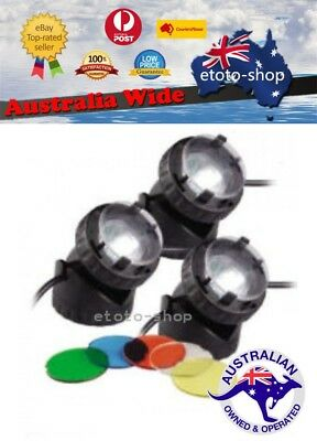 Jebao JPL1-3 Garden Landscape Pool Pond Light Colours Submersible + kit