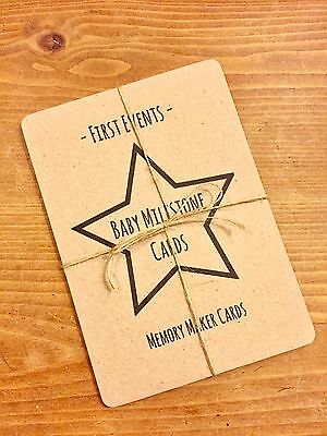 Baby Milestone Cards - First Events - Baby Shower Gift - Birth - New Baby