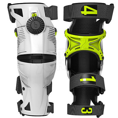 2019 Mobius X8 Adult Knee Braces Motocross Mx Enduro Acid White Cheap New Ski