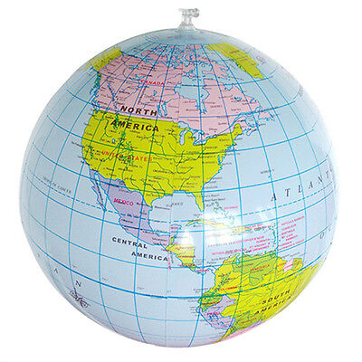 16'' Inflatable Globe Education Geography Toy Map Balloon Beach Ball Toy Mirable