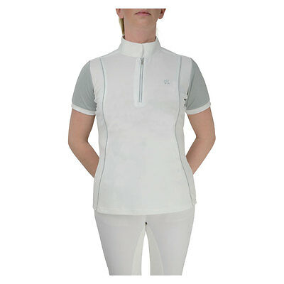 HySPORT Pro International Ladies Show Shirt Zip Breathable White/Grey XS-XL
