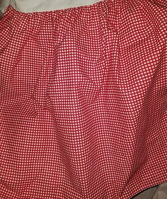 Ralph Lauren Queen Bed Skirt Red White Wendy Gingham Country