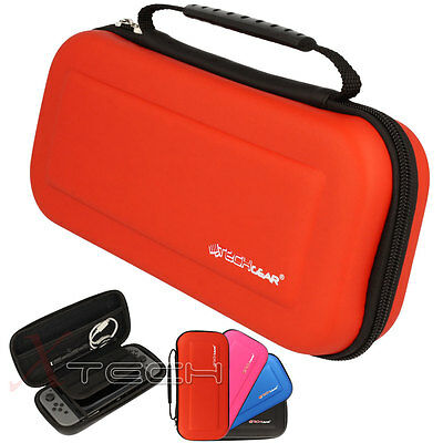Hard Protective Carry Storage Game Case Cover Pouch for Nintendo Switch - Red