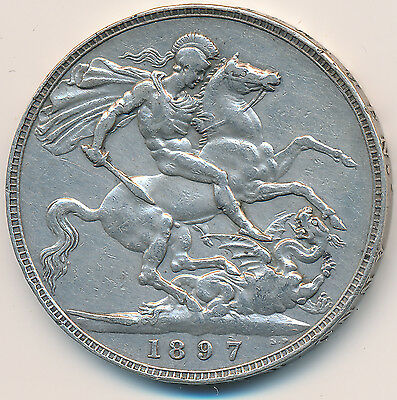 Great Britain Crown 1897 - VF