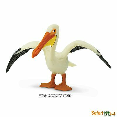 WHITE PELICAN  Safari Ltd # 241829 Wings of The World   Bird  REPLICA  NEW 2016