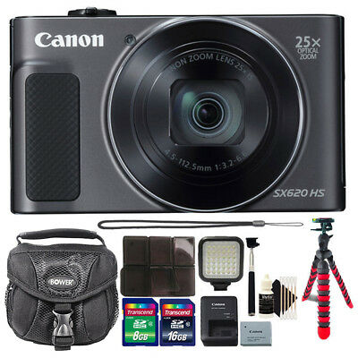 Canon PowerShot SX620 HS 20.2MP 25X Zoom Wifi NFC Digital Camera and Accessories