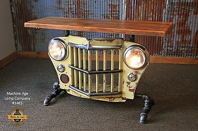 Steampunk Lamp Industrial Machine Light Jeep Grille Table Willys Console Grill