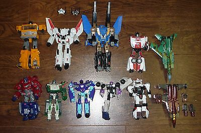 Transformers Lot Of 9 For Parts Universe Generation Deluxe Loose Original