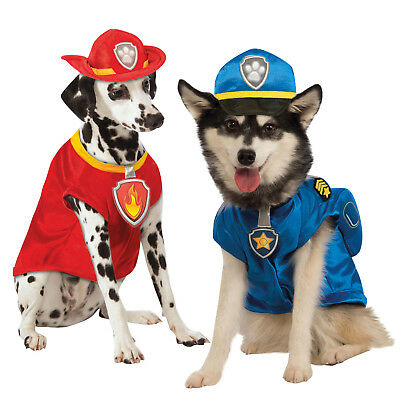 Rubies Official Dogs Paw Patrol Chase Police OR Marhsall Pet Fancy Dress Costume