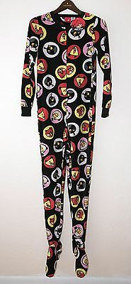 ANGRY BIRDS Adult Zip Up Pajamas - NWT - Size Small