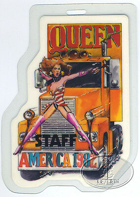 QUEEN 1982 Laminated Backstage Pass Staff