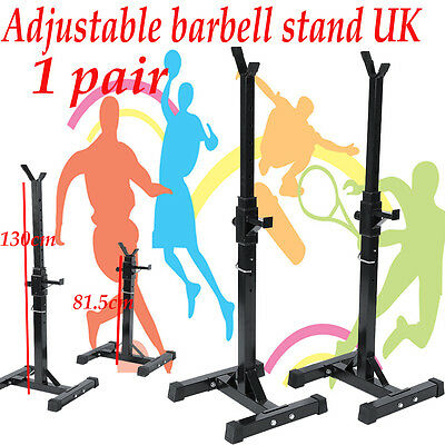 Adjustable Gym Squat Barbell Power Rack Stand Press Weight Bench Sports Workout