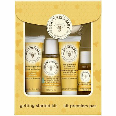 Burts Bees Baby Bee Getting Started Gift Set, 5 Products in Giftable Box Packag