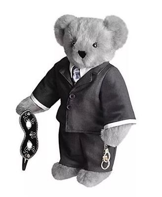 """NEW Fifty 50 Shades of Grey Vermont Teddy Bear 16"""" Christian Gray Handcuffs"""