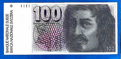 Switzerland P57k(3) 100 Franken FRANCESCO BORROMINI Sign Gerber/Meyer 1991 XF/AU