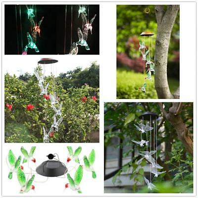 Solar Color Changing LED Wind Chimes Windchime Light Lamp Home Garden Decor