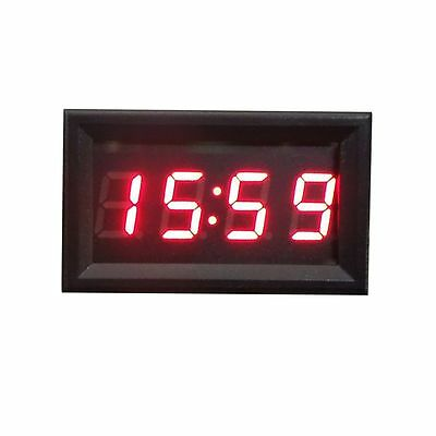 Auto Moto Accessorio 12V/24V Cruscotto Display a LED Orologio Digitale Rosso Hoc