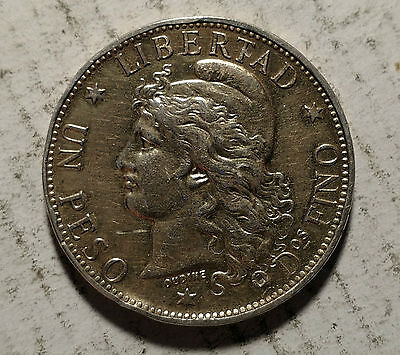 1882 Silver Peso Cull Damaged Filler Clear Date Solder