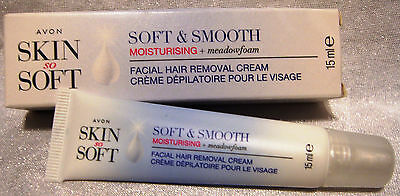 Avon Skin So Soft Enthaarungscreme 15ml für´s Gesicht Soft & Smooth Moisturising
