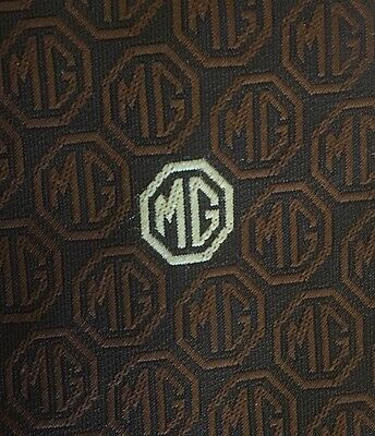Vintage Brown Tie MG Owners Club 1980s Tootal Tie Very Good Condition