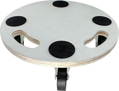 Move-It 3368 15-Inch Round Wood Platform Dolly, 400-lb Load Rating