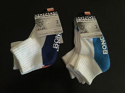 BONDS boys socks 2 x 2pack. Shoe size 1-2 (6-12 months). RRP $21.90. BNWT