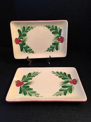2 Gail Pittman Southern Living CHRISTMAS MEMORIES Serving Trays/Side Plates