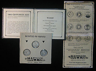 Hawaiian Mint - 3 Piece collection - 1976, 1977, 1978 Medals - Scarce Set!
