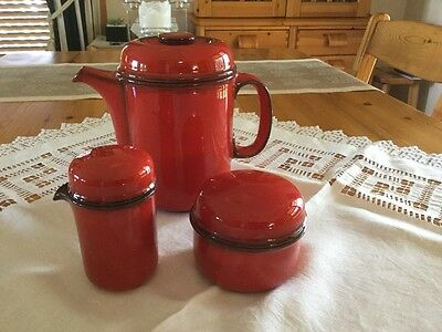 'Thomas' Coffee Pot, Sugar Bowl & Creamer, Made in Germany
