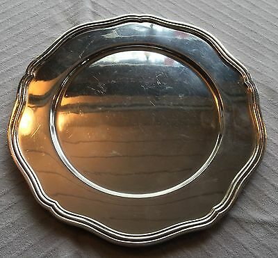 Vintage Sheffield England Silver Plate Silverplate Scalloped Plate Charger