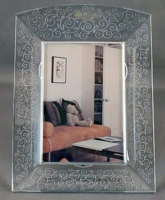 """BACCARAT RENDEZ-VOUS CRYSTAL PICTURE FRAME 7-1/2"""" tall"""