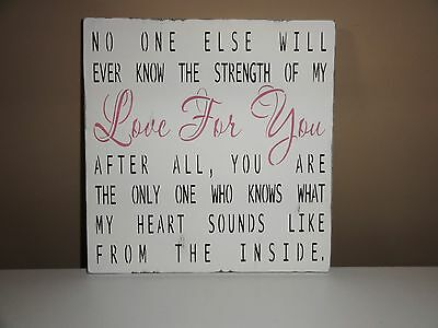 The Strength of My Love Baby Boy Girls Bedroom Room Nursery Sign Decoration Gift