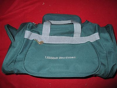 Lehman Brothers Vintage Gym Bag / Duffle Bag  Canvas With Pockets And Strap