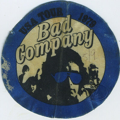BAD COMPANY 1979 Desolation Angels Tour Backstage Pass