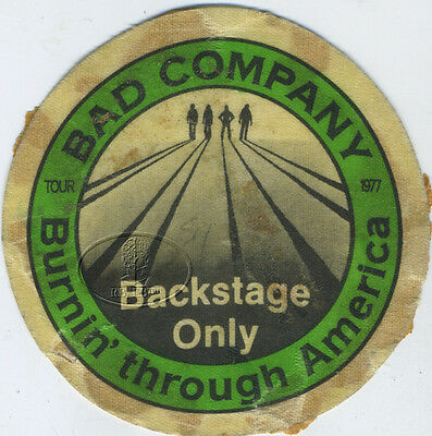 BAD COMPANY 1977 Burnin' Through America Tour Backstage Pass