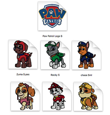 Paw Patrol Brother Machine Embroidery Designs PES CD,USB