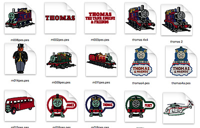 Thomas Train Brother Machine Embroidery Designs PES CD,USB