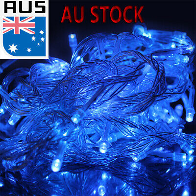 250/500 50M 100M LED Indoor Outdoor String Fairy Party Xmas Lights Clear Cable